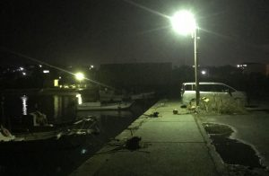 Artificial Light at Night in a Fishing Port